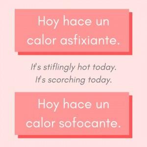 calor sofocante Spanish