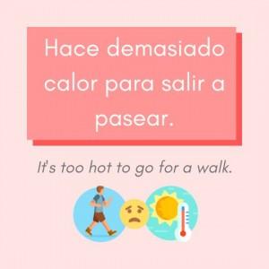 demasiado calor Spanish