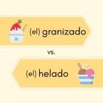 granizado - helado Spanish